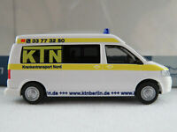 "Rietze 53612 VW T5 GP (2009-2015) ""Krankentransport Nord / Berlin"" 1:87/H0"