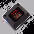 3 Digit Red Led Readout 12v Digital Voltmeter Black Housing Car Marine Audio Usa