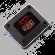 3 Digit RED LED Readout 12v Digital Voltmeter Black housing Car Marine Audio USA