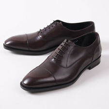 NIB $650 CANALI 1934 Medium Brown Calf Leather Cap Toe Balmoral US 10.5 D Shoes