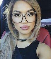 "BIG OVERSIZED /""Aneta/"" BUTTERFLY Women Sunglasses AVIATOR Flat Top Square Shadz"