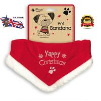 Christmas Red Santa Pet Dog Bandana Cute Collar Xmas Scarf Outfit Costume Treat
