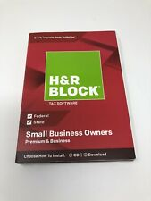H&R Block Tax Software Small Business Owners Premium & Business (2018) NEW