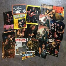 "Slayer - 1980's ""RIB"" Magazine Clippings / Celtic Frost, Sodom, Exodus, Kreator"