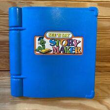 VINTAGE See 'N Say Story Maker Mattel 1991 Silly Sentences Book Tested Works!