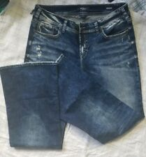 Womens Jeans. 18/34. Silver Denimotion.NWOT Acid washed. Flare, distressed .