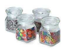 Kamenstein Glass Spice Storage Jars, 4oz, Set Of 4, NEW