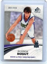 2005-06 SP GAME USED #150 ANDREW BOGUT ROOKIE RC #2/999, UTAH, BUCKS, WARRIORS