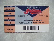 1995 Cleveland Indians vs Minnesota Twins Ticket Stub Aug 2 Albert Belle 2 HR
