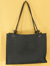 GUCCI Borsetta-SHOPPER-GUCCISSIMA canvas-nero - #7093