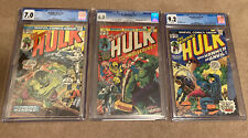 THE INCREDIBLE HULK  #180 #181 #182 CGC LOT 7.0 6.0 9.2 FIRST WOLVERINE ICONIC