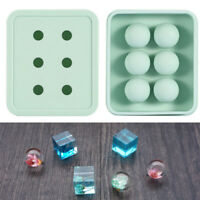 Ball/Cube Silicone Pendant Mold Making Jewelry For Resin Necklace Craft DIY ~*