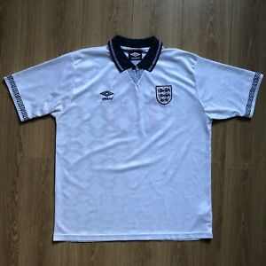 England 1990 Umbro Home Football Shirt Gazza 19 XL