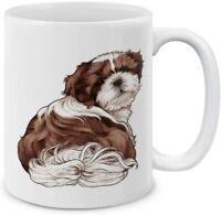 Shih Tzu Dog Butt Looking Back Ceramic Coffee Mug