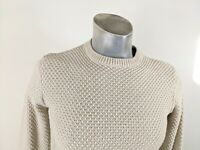 Topman Heavy Cotton Blend Crew Neck Sweater Jumper XS