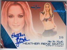2011 BENCHWARMER BLUE AUTO: HEATHER RENE SMITH #2/5 AUTOGRAPH HOT FOR TEACHER