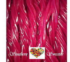 WONKA RASPBERRY TWISTERS 90CT 1KG RED LOLLIES Twister Candy buffet