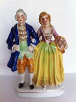 Hand Painted Colonial Couple Figurine Made In Occupied Japan