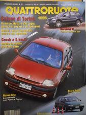 Quattroruote 511 1998 Nuova Clio a confronto con Punto e Corsa      [Q48]