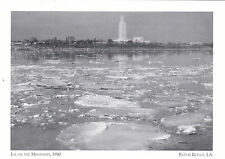 """*Postcard-""""Ice On The Mississippi"""" -The Winter of 1940- *Baton Rouge, LA (A16)"""