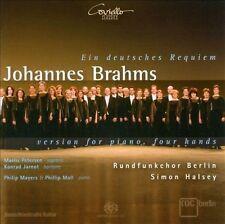 Johannes Brahms: Ein Deutsches Requiem - Version for Piano, Four Hands Super...