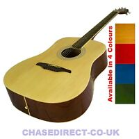 Guvnor GA300 Acoustic Dreadnought Guitar Available in 6 Colours Steel Strings