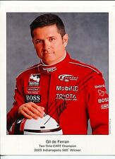 Gil De Ferran Indianapolis 500 Winner Indy Cart Driver Signed Autograph Photo
