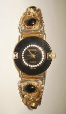 VINTAGE NATIVE WATCH BEAUTIFUL STERLING SILVER NATIVE DESIGN GOLD OVERLAY NR