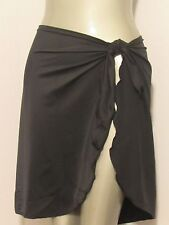 BLACK ONE SIZE SARONG lycra trico Full Sarong Bathingsuit cover up made in usa