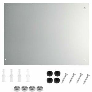 Frameless Bathroom Mirror Plain with Wall Hanging Fixing Glass Mirror 60cmx45cm