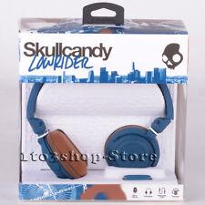 Skullcandy Lowrider On-Ear Foldable Stereo Headphones w/Mic Headset (Navy/Blue)