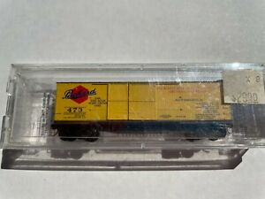 N SCALE Micro Trains Fading Memories Series Packard (98-41)40ft wood boxcar #473