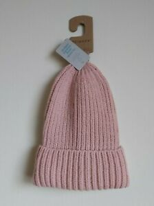 Women`s Pink Knitted Hat, Woolly Hat. Pink Woolly Hat. Winter Hat