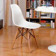 Set Of 4 DSW Dining Chairs Eiffel Inspired Eames Style Plastic & Beech Wood Legs