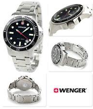 Wenger Men's 72326 Battalion III Diver Black Dial Steel Bracelet Watch SWISS