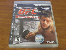 UFC Undisputed 2009 (Sony PlayStation 3, 2009) PS3 Fighter Game Ships Free! E