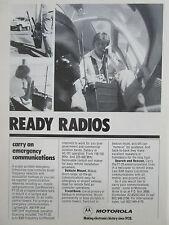 3/1980 PUB MOTOROLA PT-25 EMERGENCY RADIO AM/FM VHF/UHF ORIGINAL AD