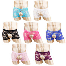 Mens Open Butt Boxer Shorts Crotchless Underwear Underpants Open Hole Panties