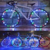 Bike Bicycle Cycling Rim Lights 20 LED Wheel Spoke Light String Strip Lamp