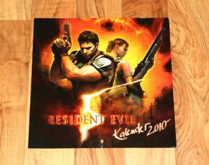 2010 Resident Evil 5 Capcom German Rare Calendar Chris Redfield Sheva Alomar