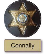 "CONNALLY LONGMIRE NAME BADGE & Deputy 3"" BUTTON HALLOWEEN COSTUME MAGNET BACK"