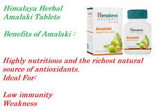 Himalaya Herbal Amalaki Antioxidant Enhance Health And Performance 4X60 Tablets