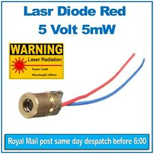 Laser diode Brass module. 5V, 5mW Red 650nm Diameter 6mm