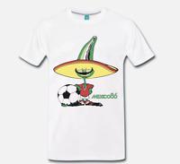 T-SHIRT MAGLIA MONDIALI DI CALCIO MESSICO 1986 MEXICO 86 FOOTBALL - 2  S-M-L-XL