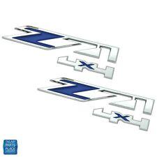 2000-16 Silverado / Sierra Z71 4x4 Blue & Chrome Emblem Pair