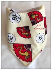 Baby Bandana Dribble Bib Bavoir-or dragon chinois en tissu-Bandeau Kanji