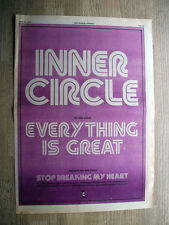 INNER CIRCLE EVERYTHING IS GREAT - VINTAGE ORIGINAL ADVERT POSTER 1979 - 16 X 11