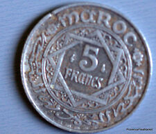 5 Francs 1370 MAROC MOROCCO Empire Cherifien 1950 alu aca55