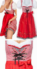 Dirndl Jasmin Rot Karo Stockerpoint Trachtenkleid Oktoberfest Kleid Gr 38 NEU OV
