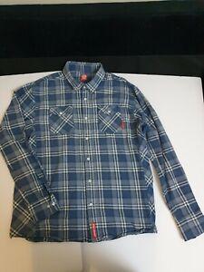 Santa Cruz Skateboard Check Work Shirt L Long Sleeve